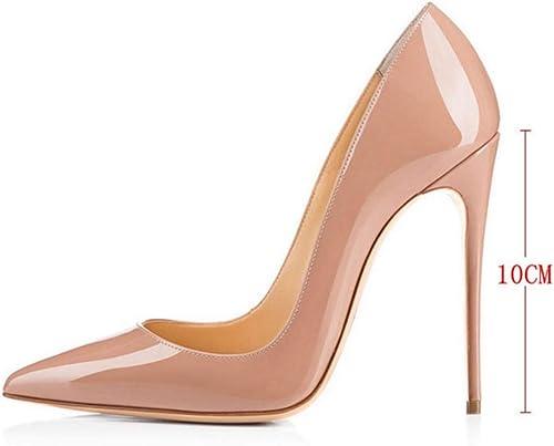 Hysxm 10 Cm Albaricoque mujer Sexy zapatos De Tacón Alto De La Boda zapatos De Tacón Nupcial Partido De Las mujeres Más El Tamaño del Dedo del Pie Puntiagudo Bombas Estilete Partido