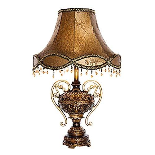 Dightyoho Lámpara Escritorio Lámpara de Resina de Cuerpo Bubler de Sombra de luz roja marrón lámpara de iluminación de ara?a Dorada lámpara de mesita de Noche