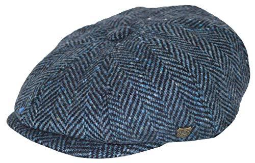 Failsworth Gorra Newsboy Malmo Lana diseño Espiga Tonalidades Azules