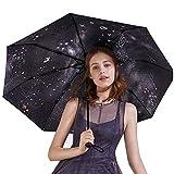 Regenschirme Ultraleichten Damen Sonnenschirm Sonnencreme Uv Fünffach Dreifach (Color : Black, Size : 56 * 95 cm)