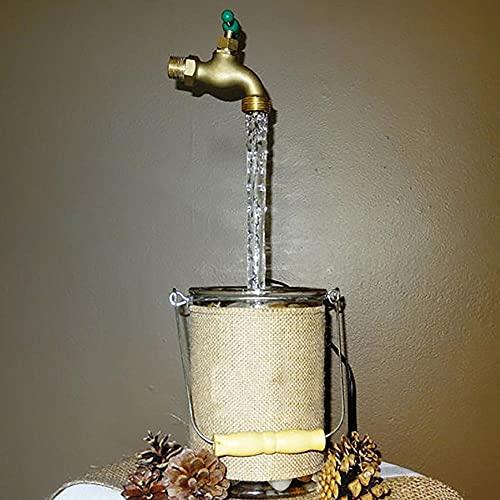 KKKKKY Ilusión mágica del grifo, fuente de riego invisible que fluye la boquilla, fuente invisible del grifo, grifo flotante de mesa al aire libre, arte de la yarda DIY (2 piezas)