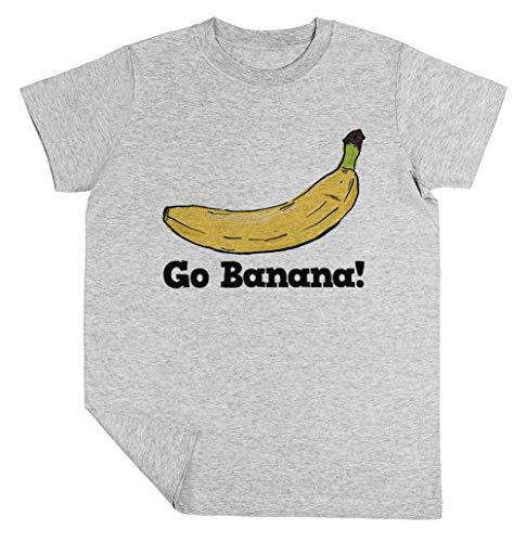 Go Banana! Niño Niña Unisexo Gris Camiseta Manga Corta Kids Grey T-Shirt