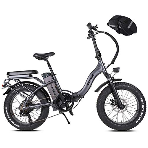 Rattan LM/F-750W 20Inch Folding Electric Bike 48V 13AH Removable Lithium Battery I-PAS 7 Speed 32MPH Adult Bicycle 750W Electirc Bicycle
