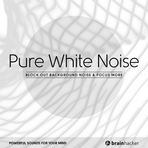 White Noise Book Cover : Pure white noise audiobook brain hacker audible