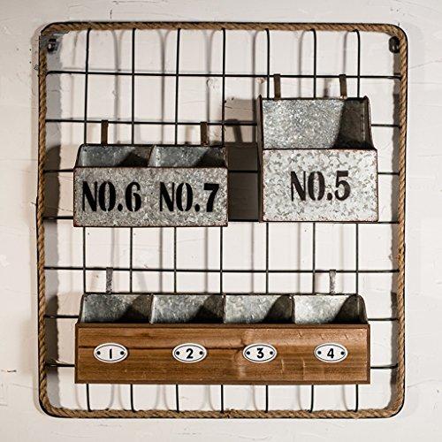 Industriel rétro nostalgique fer étagère pendentif étagère en métal artisanat Tenture murale