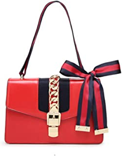 Mini Handbags for Women, Fashion Shoulder Bag Cross Body Bag with a Bow Tie (red)