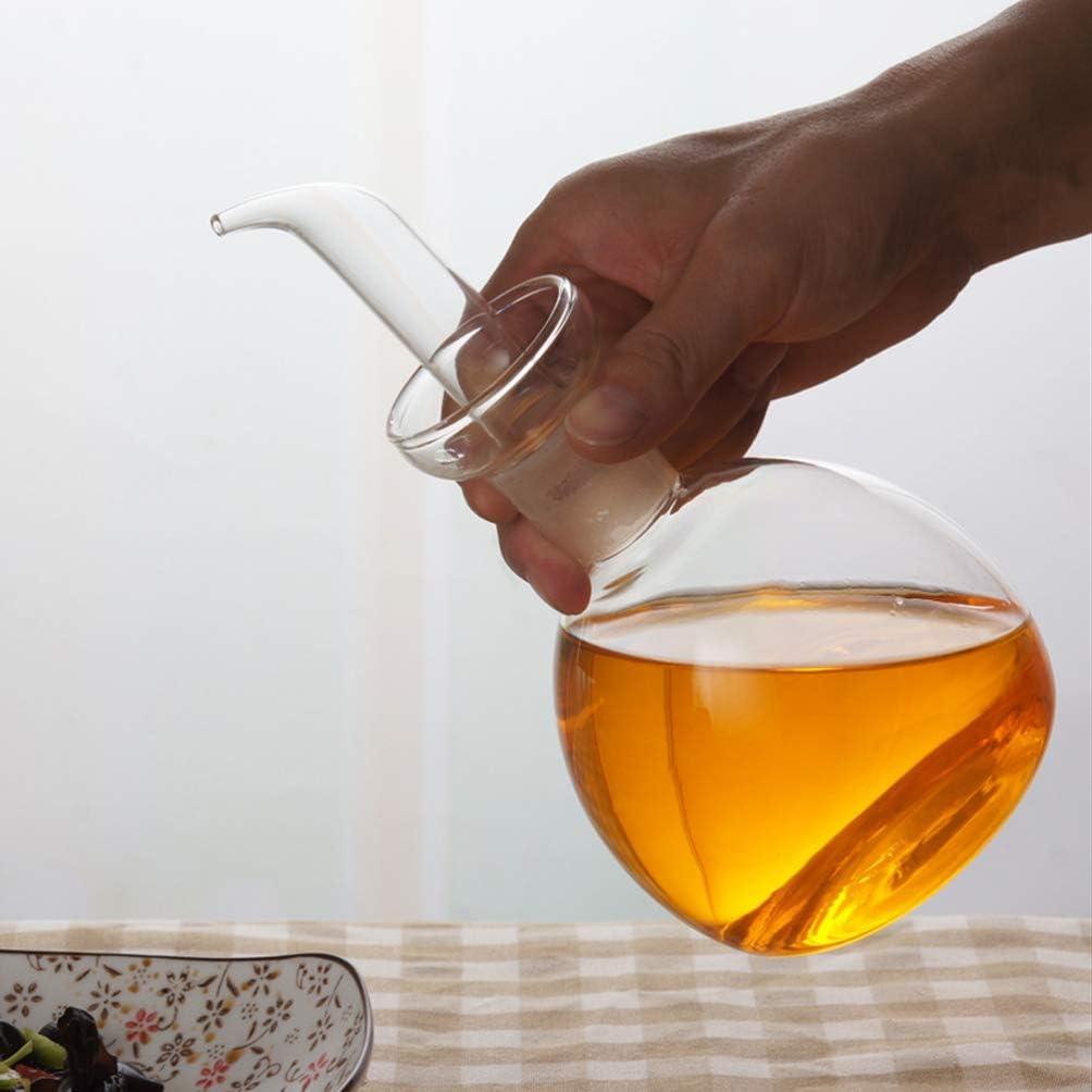 Yardwe Contenitore per Ampolla a Tenuta Stagna in Vetro da 200 Ml Contenitore per Ampolla Trasparente per Olio da Cucina Aceto per Condimenti Contenitore per Cucina Domestica Ristorante