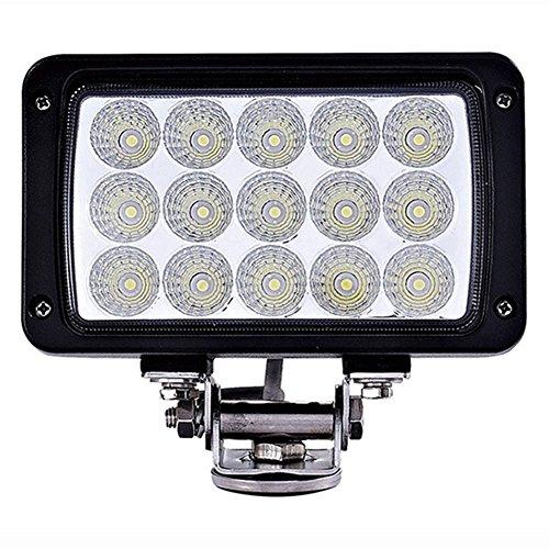 PoJu 45W LED Car Lighting Lampe de travail Outdoor Waterproof IP67 Phare Lumière de toit hors-route de véhicule Lumières de voiture Modifiées Lumières d'inspection Black Spot Flood Combo Driving Light