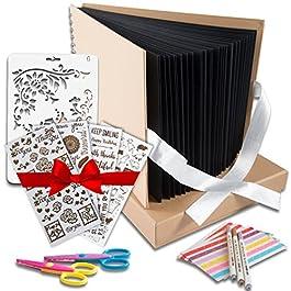 Scrapbook Photo Album DIY Kit,I Deal Wedding, Anniversary Book Family Memory Box w/Accessories – Keep Favorite Memories…