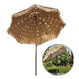 DZLXY Parasoles portátiles Jardín Playa Paraguas, Thatch Parasol Paraguas para Patio Pool Balcon, Sun Sunde Shade Cafe Store Body Party Beach