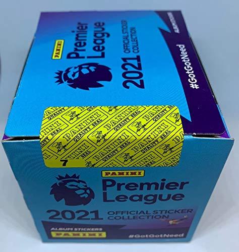Panini - Premier League 2021 - Sticker - Box mit 50 Tüten (1 x 50 Tüten im Display)