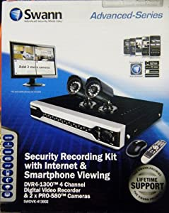 Us Prices Swann Security 4 Channel Dvr With 2 480tvl Cameras Recording Kit With Internet Amp Smartphone Viewing Swdvk Lutill100i