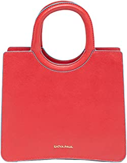 Satya Paul Women's Satchel Bag (Red Flame)
