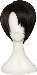 NiceLisa High Temperature Short Black Brown Boy Teens Anime Show Cosplay Dress Wigs Hairs