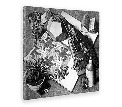 Giallobus - Cuadro - Impresion EN Lienzo - Escher - Reptiles - 50 x 50 CM