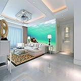 SMHCHA Fototapete Schildkröte 3D Wand Tapete Wandbild Vlies Wohnzimmer Schlafzimmer TV Wanddekoration 200cmx140cm