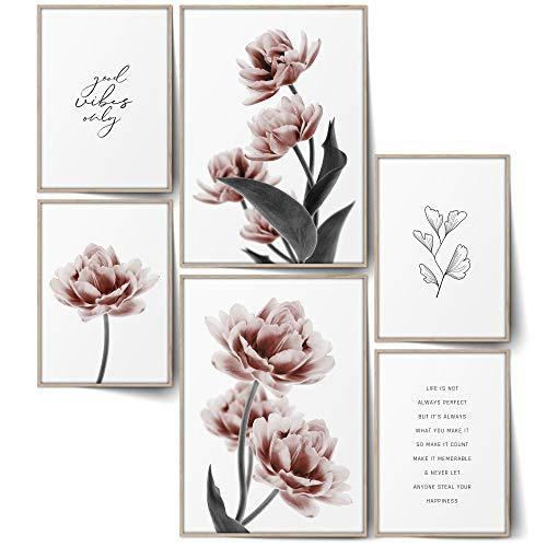 BLCKART Infinity Noble Tulip Poster Set Stilvolle Doppelseitige Tulpen Poster Blumen Wohnzimmer Bilder Deko (Noble Tulips, Ohne Rahmen)