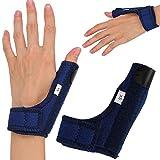 Artritis - Férula para el pulgar, puntal de apoyo para el dolor de esguinces, artritis, túnel carpiano, pulgar, inmovilizador, correa para la muñeca izquierda y derecha