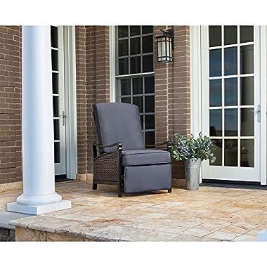 La Z Boy Outdoor Carson Luxury Outdoor Recliner, Indigo