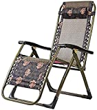 ZDW Reclinable mecedora, Silla plegable reclinable ajustable, la gravedad cero Tumbona, portátil siesta Sofá del ocio, de terraza al aire libre (Wave)
