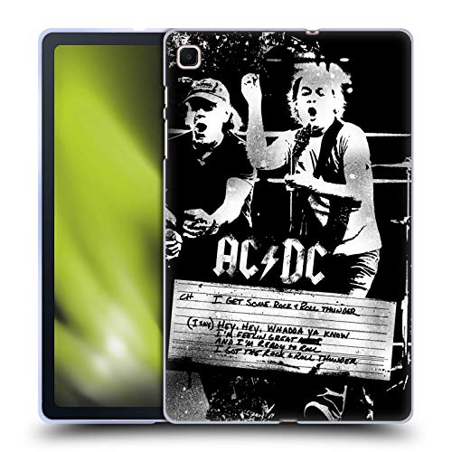 Head Case Designs Ufficiale AC/DC ACDC Rock And Roll Thunder Testo Cover in Morbido Gel Compatibile con Samsung Galaxy Tab S6 Lite