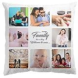 Personalised Gifts Market Foto-Kissen Selbst gestalten - weiß - individuell Bedruckt 100% Polyester Kopfkissen mit eigenem Foto (40 x 40 cm) Sofadekor