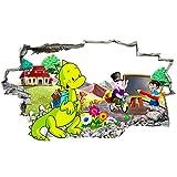 Calcomanías Etiqueta de la pared Escuela pizarra dinosaurio pegatinas de pared dormitorio niñas niños sala de estar