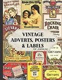 Anuncios vintage, carteles y etiquetas para diario: papel decorativo de una cara...