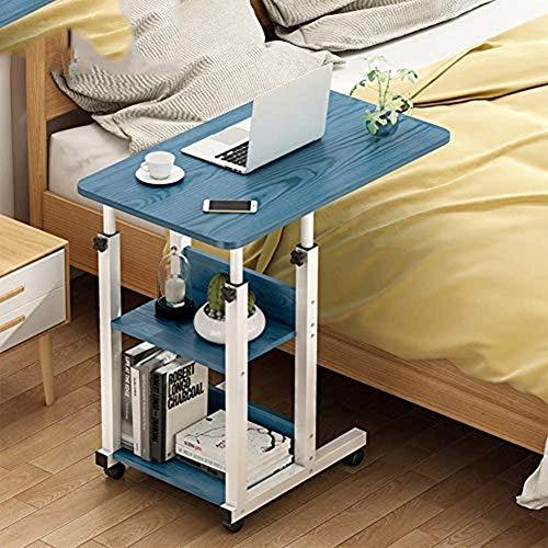 HEMFV Escritorio ergonómico para computadora Computadora de escritorio, portátil PC de la tabla movible, ajustable de lectura Escritorio, Madera mesa de estudio, con Host soporte, for la seguridad del