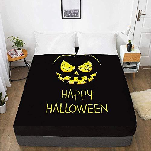 Bedclothes-Blanket edredón Ajustable Cama 150 3D Impresión Digital Sábana Colcha Cubierta Protectora de colchón de Halloween-Los 200x200x30cm_19