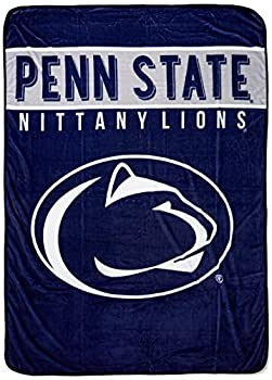 Penn State Nittany Lions  Basic  Raschel Throw Blanket 60  x 80