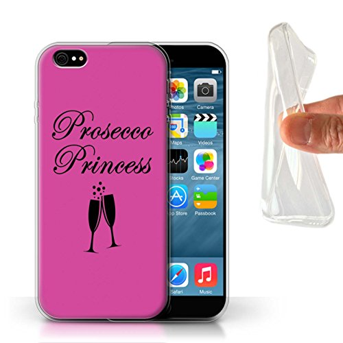 Stuff4® Phone Case/Cover/Skin/IP-GC/Prosecco Fashion Collection Apple iPhone 6 Prosecco Princess/glas