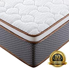 BedStory 10 Inch Twin Mattress, Upgraded Hybrid Mattress with 100% Natural Latex Foam & Individually Encased Spring Coils, Bed Mattress in A Box, Medium Firm Responsive Support