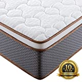 BedStory 10 Inch Full Mattress, Upgraded Hybrid Mattress with 100% Natural Latex Foam & Individually Encased Spring Coils, Bed Mattress in A Box, Medium Firm Responsive Support