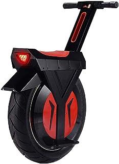 XYDDC Monociclo eléctrico Negro, E-Scooter Monociclo Vespa con Altavoz Bluetooth, Gyroroue Unisex Adulta, 17