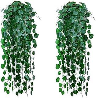 2 Plantes Artificielles de Vignes Suspendues, Lierre de Vignes Suspendues Artificielles, Plante Artificielle Suspendue, po...