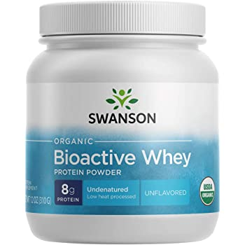 Swanson Certified Organic Undenatured Bioactive Whey Protein 12 Ounce (340 g) Pwdr