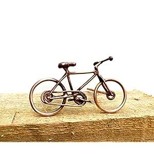 Fahrrad-Skulptur in Kupfer