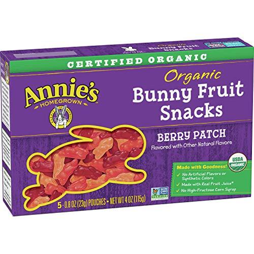 Annie's Organic Berry Patch Fruit Snacks, Gluten Free, 5 ct, 4 oz