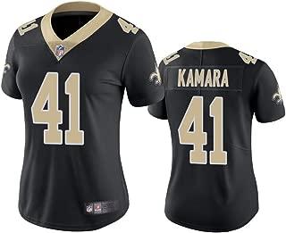 VF New Orleans Saints #41 Alvin Kamara Women's Vapor Limited Jersey - Black