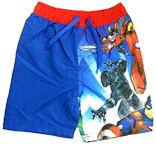 Avengers Assemble Black Panther, Jungen-Badehose mit Hulk-Aufdruck Swim Beach Shorts Surf-Wasserboxer in Blau (12-24 Monate)