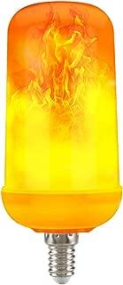 Goldsmart 1-Pack AC/DC 12V-24Volt LED Flame Effect Bulb Candelabra Lights Bulb E12 Flicker Fire Chandelier Light Bulbs Indoor Outdoor Decorative Lights