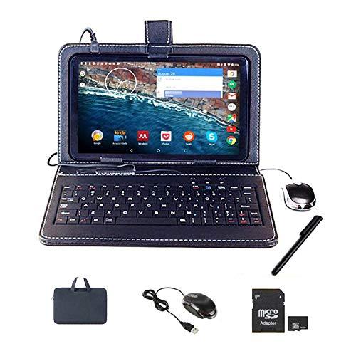 Tablet táctil con pantalla de 10 pulgadas, tablet PC Android con teclado (AZERTY) Quad Core libre Dual SIM, ordenador portátil, 16 GB ROM, doble cámara, phablet incluye ratón y bolígrafo táctil