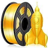 PLA Silk 3D Printer Filament 1.75MM, Sparkly Glitter PLA Silk Filament 1KG for 3D Printer PLA Shiny Silky Gold