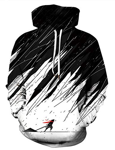 AIDEAONE Herren Hoody Kapuzenpullover Langarm Hooded Lustige Pullover Sweatshirt Kapuzenpulli XL
