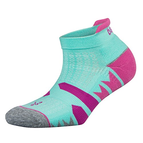 Balega Damen Enduro V-Tech No Show Socken (1 Paar), Damen Unisex-Erwachsene, Ultralight, Hellaqua/Mittelgrau, Small