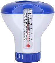 Winbang Dispensador de Productos químicos para Piscinas, dispensador de Cloro Flotante de 5 Pulgadas con termómetro Tabletas de Cloro para SPA Piscinas de hidromasaje Piscinas al Aire Libre