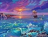 Pintura de decoración del hogar / pintura por números / pintura acrílica de alta calidad lienzo de lino preimpreso digital regalo especial-pájaro de vela