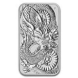 Australia 2021 Moneda rectangular de dragón de plata de 1 onza