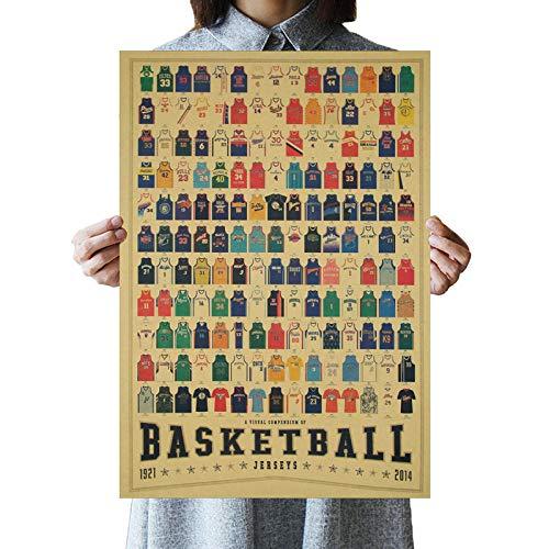 LDTSWES - Póster vintage impreso de baloncesto Clothing Collection de lienzo pintura fotográfica, 50 x 70 cm